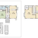 【 中古住宅 】東中島 4LDK・ハウスメーカー建築住宅 2台駐車可能(うち車庫1台分)平成29年9月リフォーム完了!