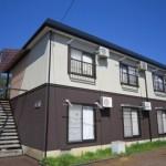 【  シティハイム上越 Ⅰ】 富岡の家電付き 1K アパート  インターネット無料(新規入居者限定)